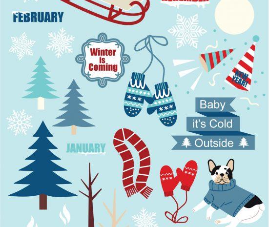 Free Printable Stickers Winter theme